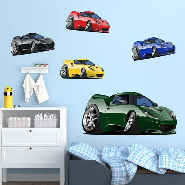 Kinderzimmer Wandtattoo: Sports Car Kit
