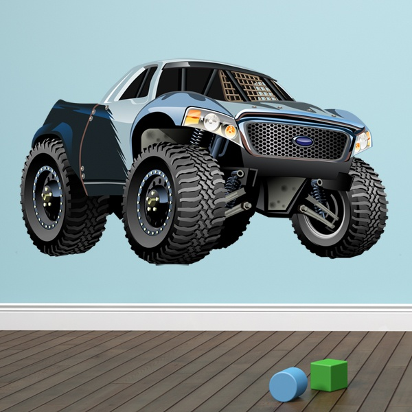 Kinderzimmer Wandtattoo: Monster Truck Pickup Ford 1