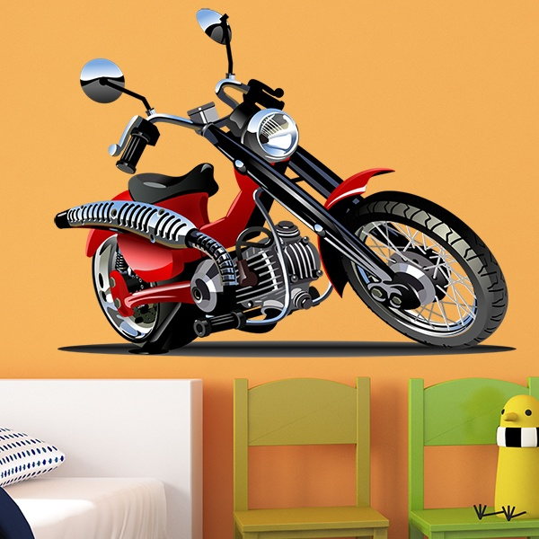 Kinderzimmer Wandtattoo: Moto Harley 3