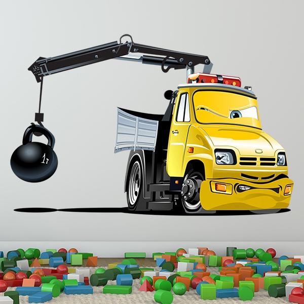 Kinderzimmer Wandtattoo:  Truck Crane Ball 1