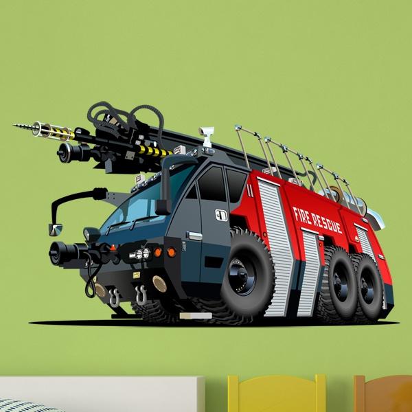 Kinderzimmer Wandtattoo: Fire truck 6