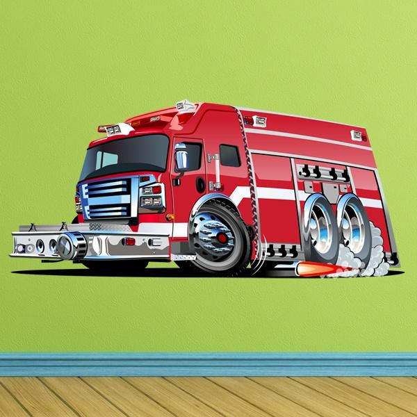 Kinderzimmer Wandtattoo: Fire truck 7