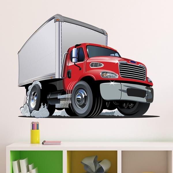 Kinderzimmer Wandtattoo: Transport-LKW