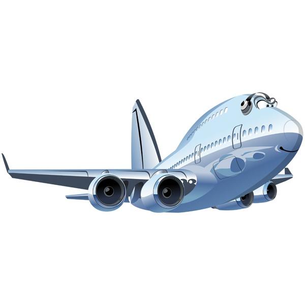 Kinderzimmer Wandtattoo: Kommerzielle Flugzeug 3