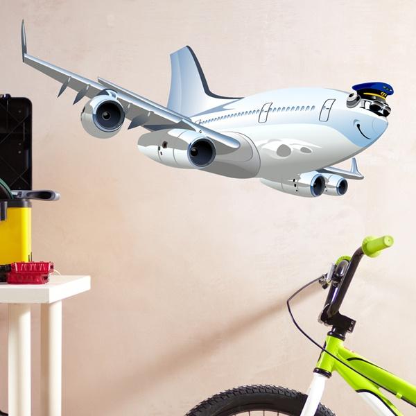 Kinderzimmer Wandtattoo: Kommerzielle Flugzeug 4