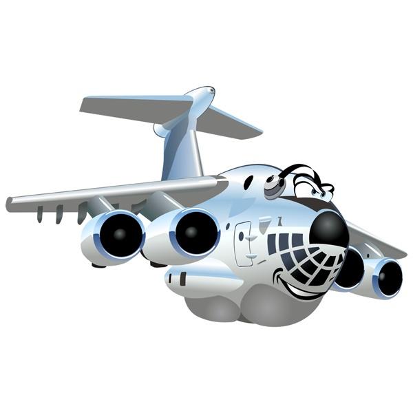 Kinderzimmer Wandtattoo: Schwertransportflugzeuge