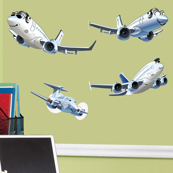 Kinderzimmer Wandtattoo: Kit Airliners 1