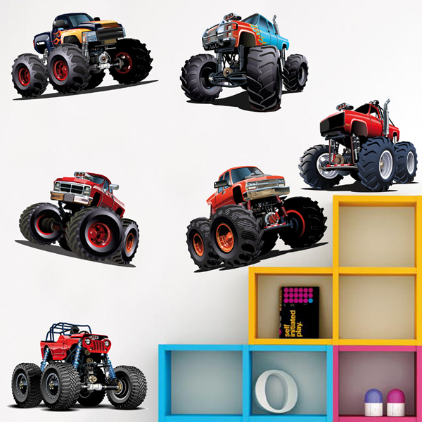 Kinderzimmer Wandtattoo: Monster Truck Kit