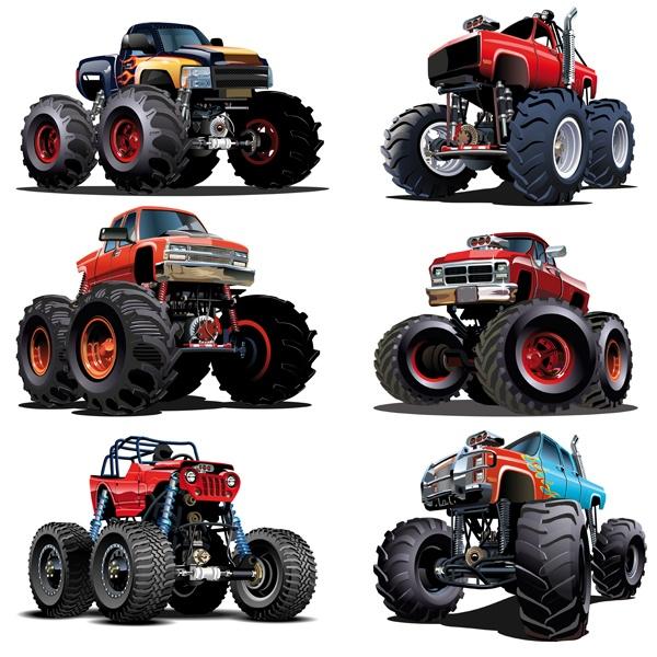 Kinderzimmer Wandtattoo: Monster Truck Kit