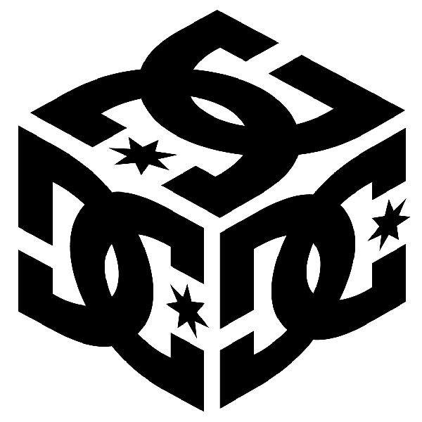 Aufkleber: DC Shoes Cube