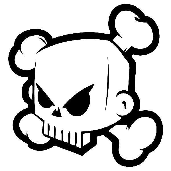 Aufkleber: Ken Block 43 DC Shoes Skull 2