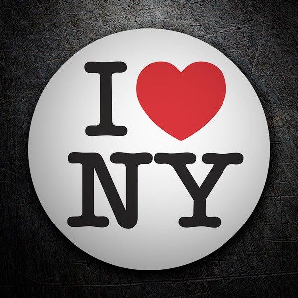Aufkleber: I love NY (New York)