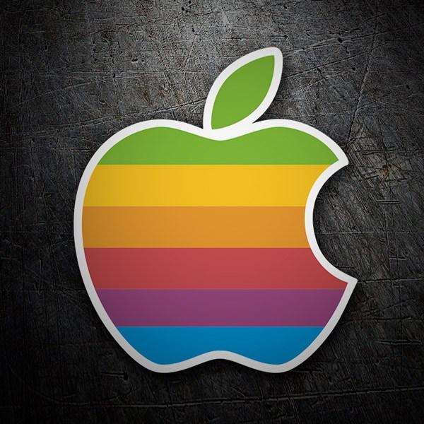 Aufkleber: Apple Retro