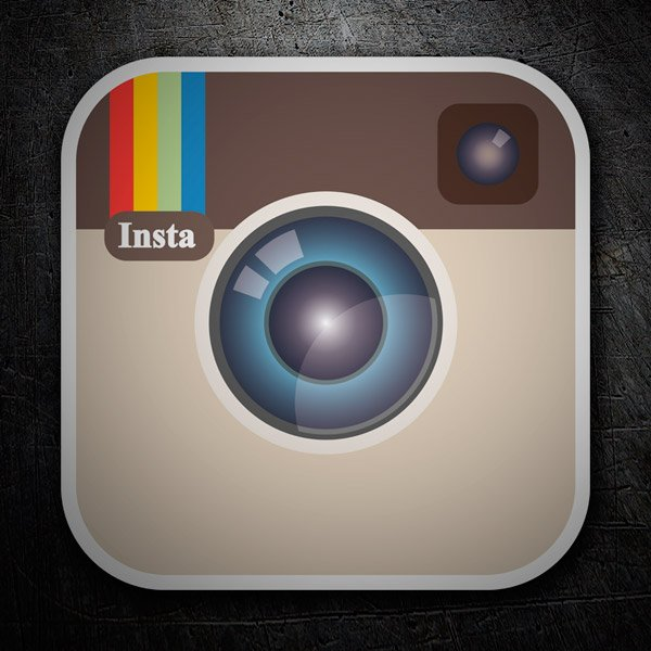 Aufkleber: Instagram