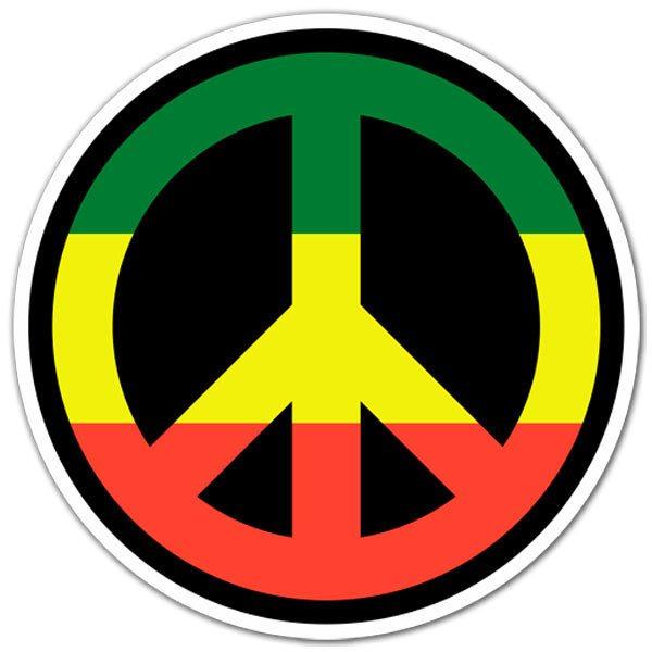 Aufkleber: Peace in Jamaica