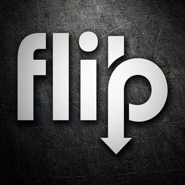 Aufkleber: Flip