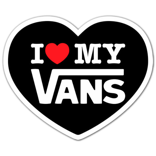 Aufkleber: I love my Vans 2