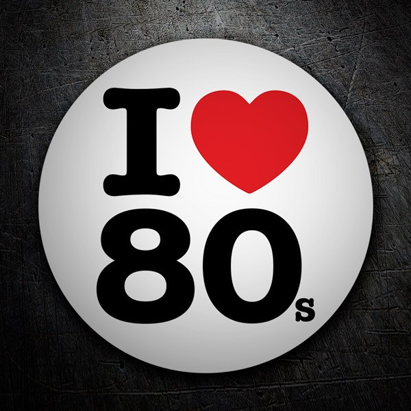Aufkleber: I love 80s
