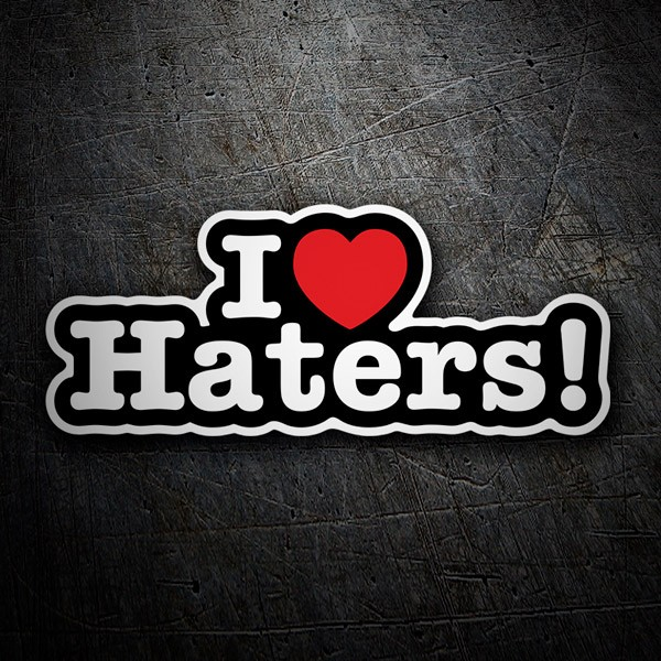 Aufkleber: I love Haters