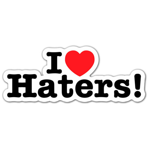 Aufkleber: I love Haters 2