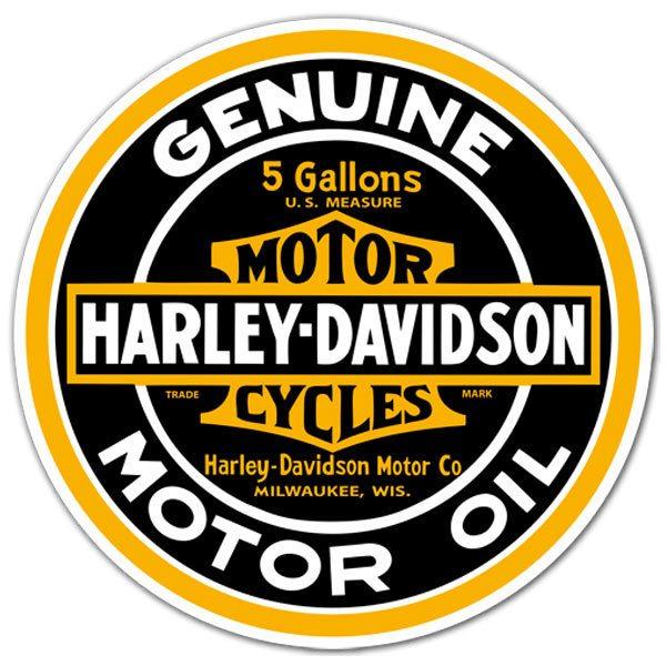 Aufkleber: Genuine Harley Davidson Motor Oil