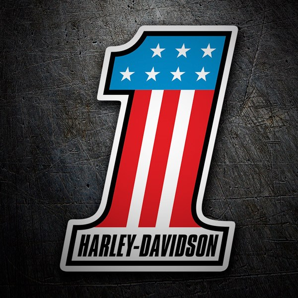 Aufkleber: Harley Davidson #1 USA