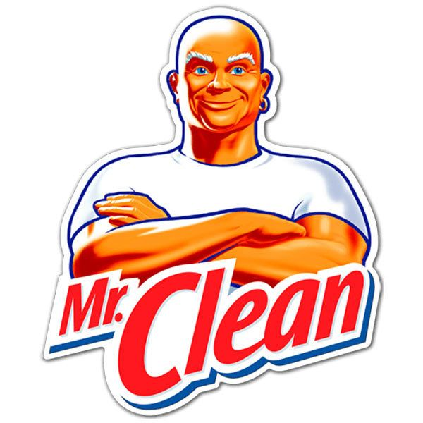 Aufkleber: Mr. Clean