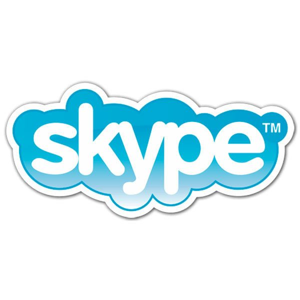 Aufkleber: Skype