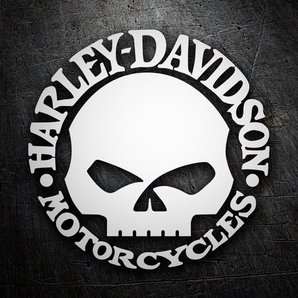 Aufkleber: Harley Davidson Schädel