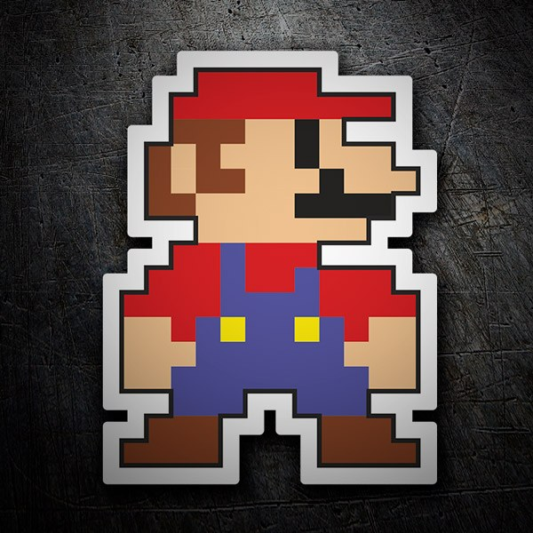 Aufkleber: Mario Bros Pixel