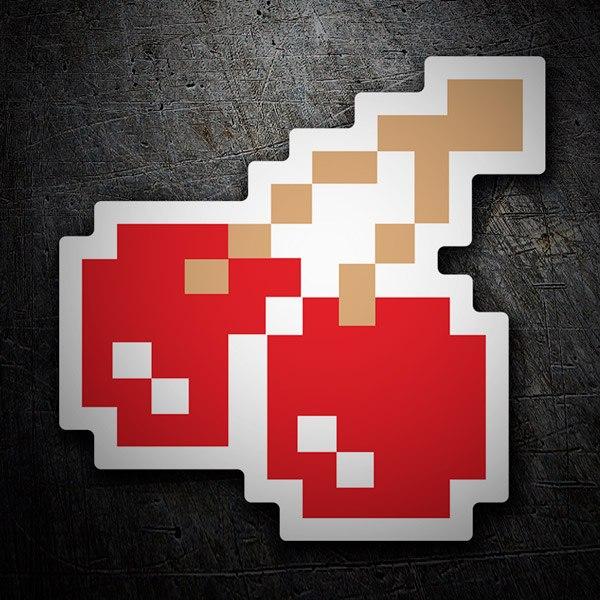 Aufkleber: Kirschen Pixel Pac-Man