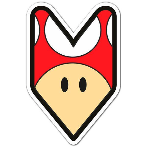 Aufkleber: JDM Red Mushroom Mario Bros
