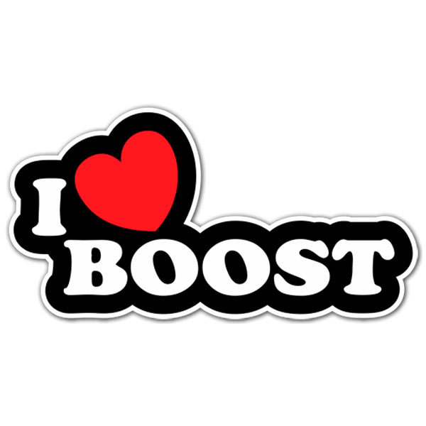 Aufkleber: I love Boost