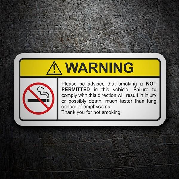 Aufkleber: Warning Not Smoke