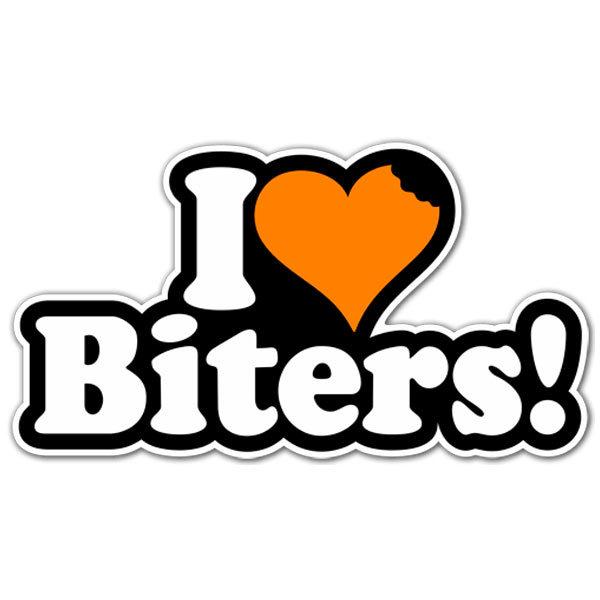 Aufkleber: I love Biters!