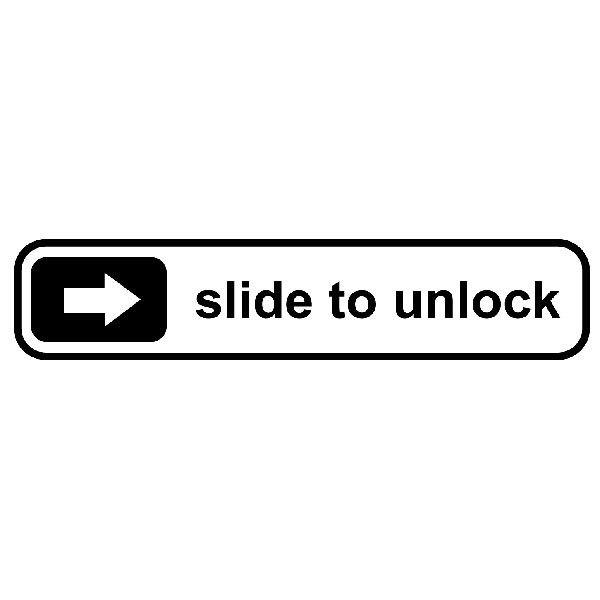 Aufkleber: Slide to unlock