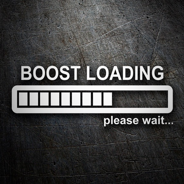 Aufkleber: Boost Loading please wait 0