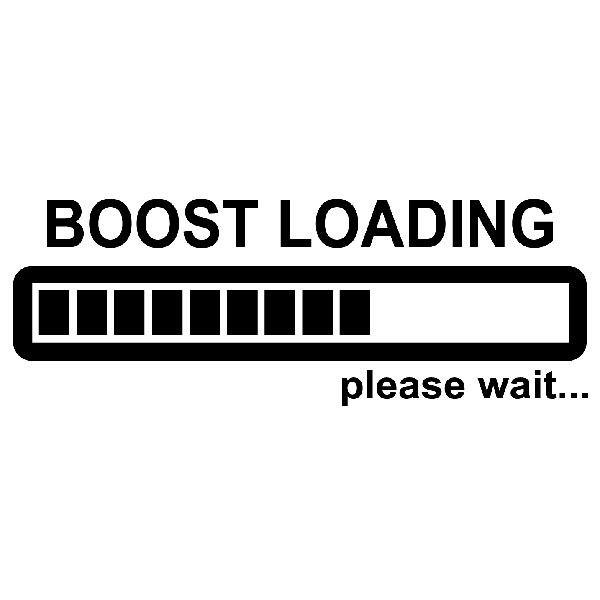 Aufkleber: Boost Loading please wait