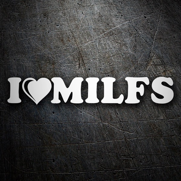 Aufkleber: I love milfs