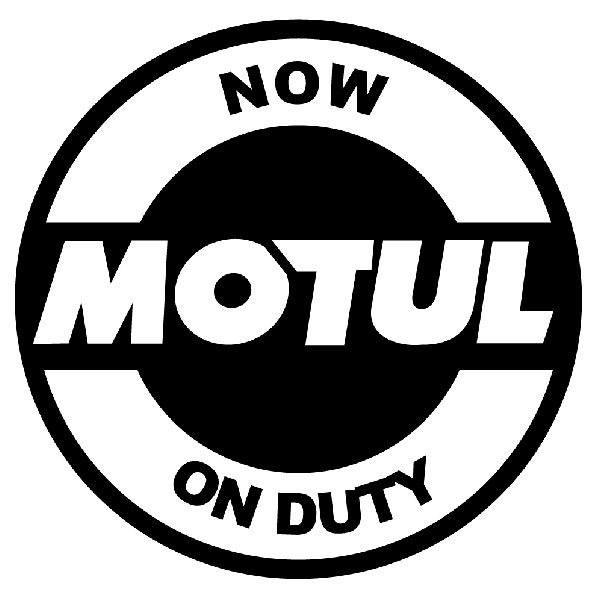 Aufkleber: Now Motul on Duty