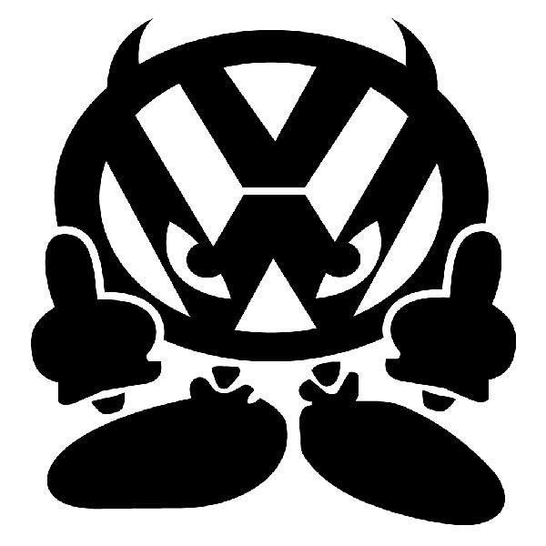 Aufkleber: Devil Horn Volkswagen VW
