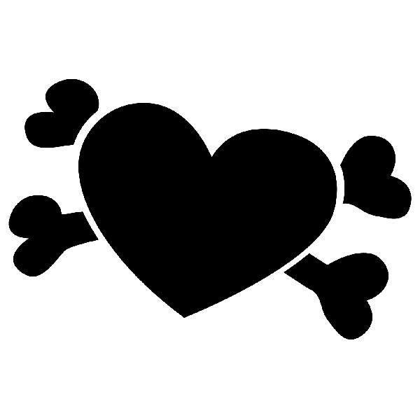 Aufkleber: Piraten Herz