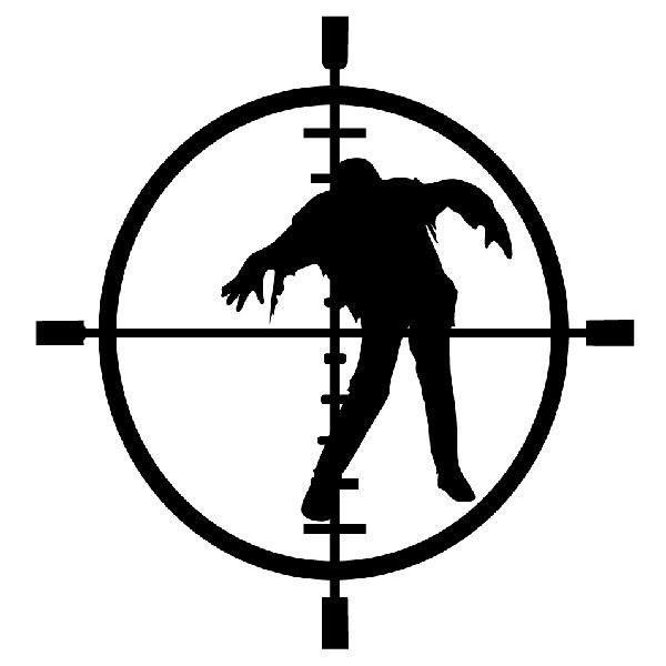 Aufkleber: Zombie Anblick Fadenkreuz