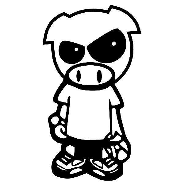 Aufkleber: Subaru Pig Boy