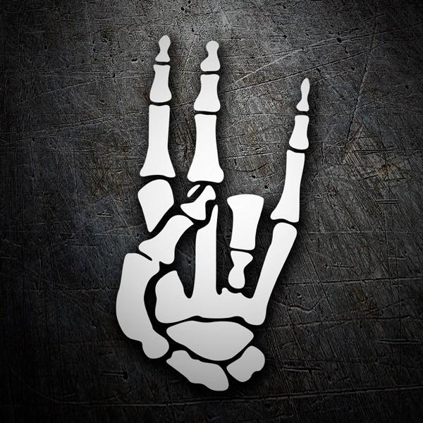 Aufkleber: Schocker-Hand Skeleton