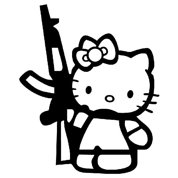 Aufkleber: Hello Kitty AK47