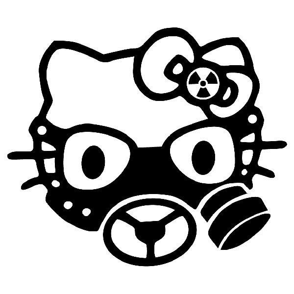 Aufkleber: Hello Kitty Gasmaske