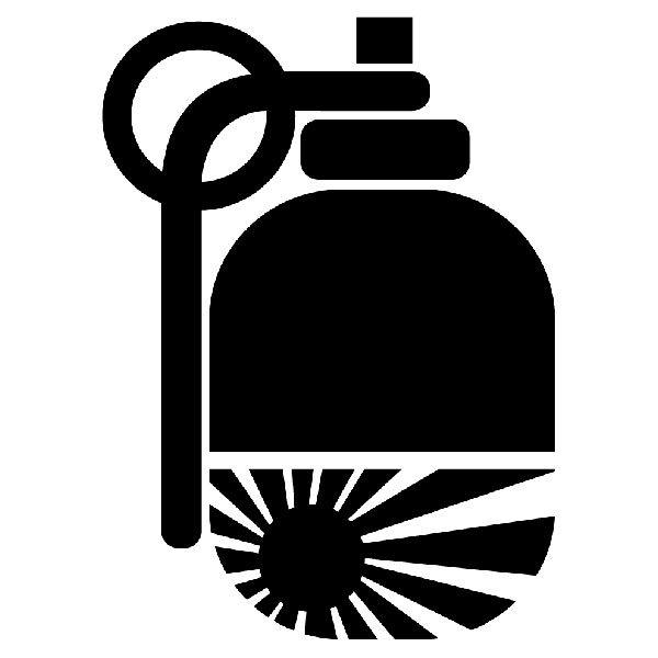 Aufkleber: Japan JMD Grenade