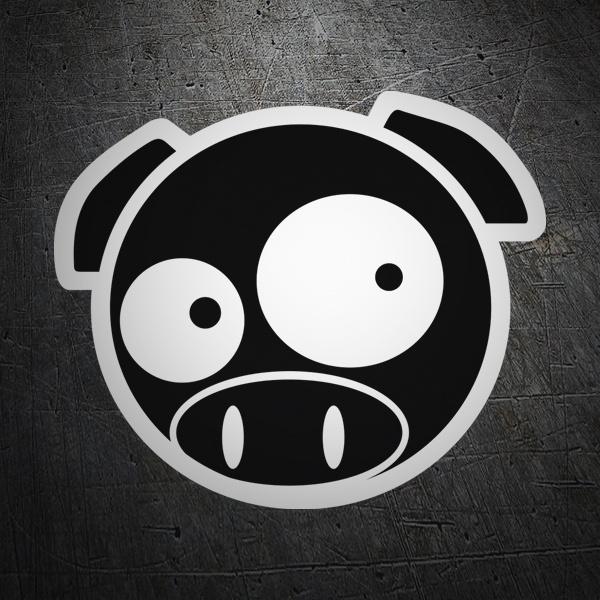 Aufkleber: Subaru Pig Manga Mascot 2