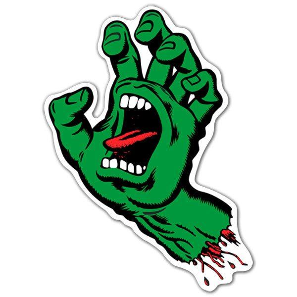 Aufkleber: Santa Cruz Screaming Hand Grün